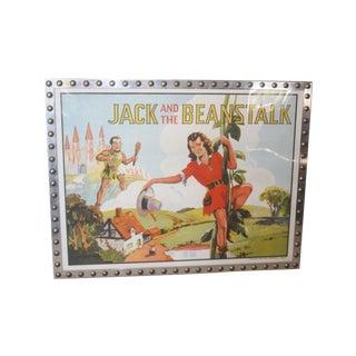 1930s Framed Promo Chromolithograph Jack Beanstalk