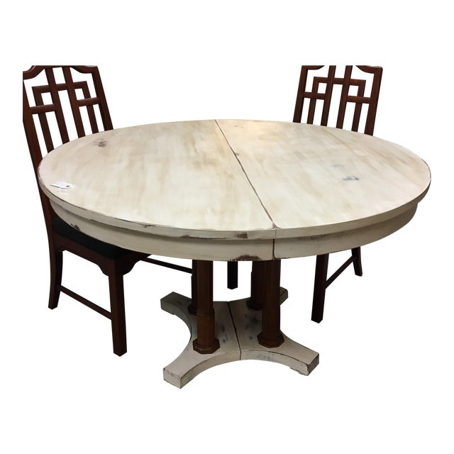 Expandable Round Farm Table - Image 4 of 6