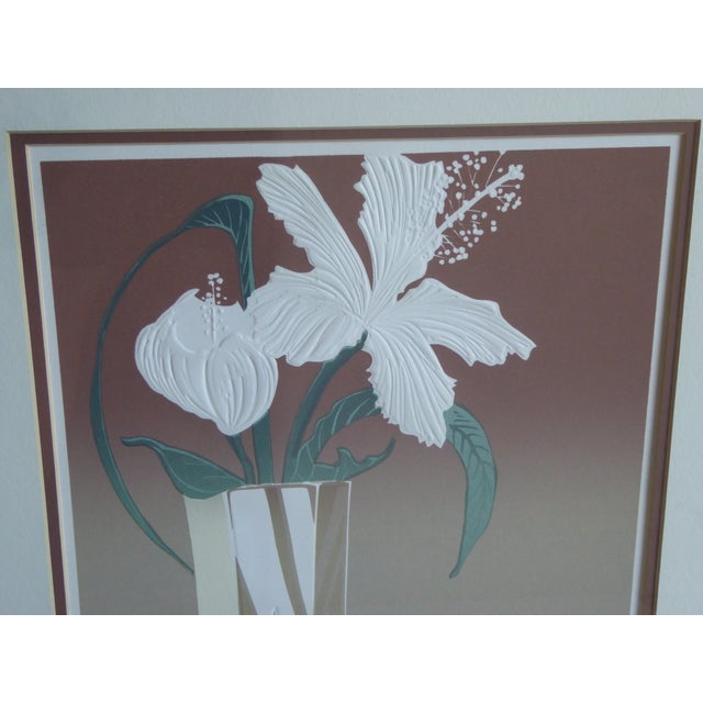 Roy Williams Crystal Hibiscus Embossed Serigraph - Image 3 of 6