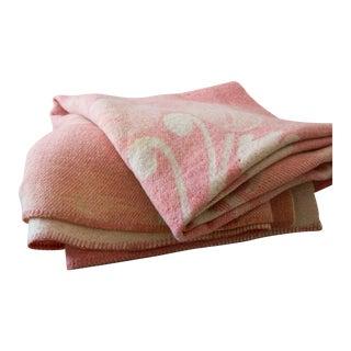 Orr Health Mauve Pink Wool Bohemian Throw Blanket