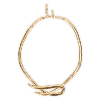 Monet Gold Toned Knot Necklace