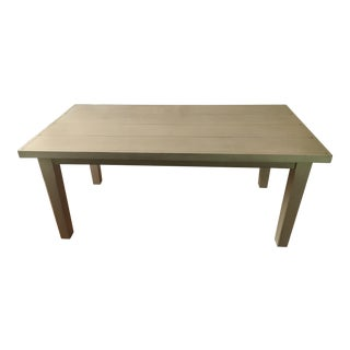 Country Farmhouse Style Large White Solid Wood Pottery Barn Table