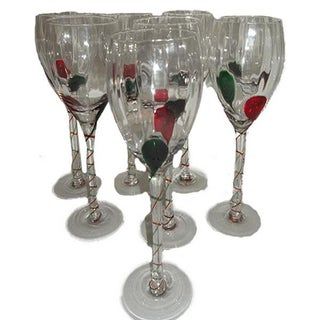 Fused Optic Holiday Cheer Stemware - Set of 8