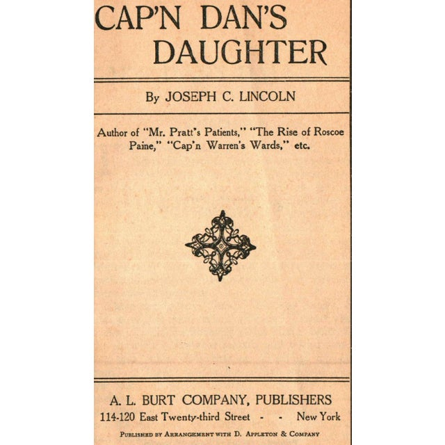 'Cap'n Dan's Daughter' Book by Joseph C. Lincoln - Image 2 of 5