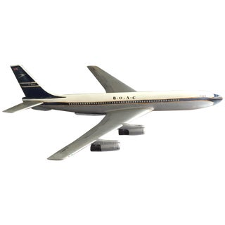 Vintage Hand Painted Boac Boeing 707 Model
