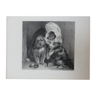 C. 1870 Comical Dogs Antique Print