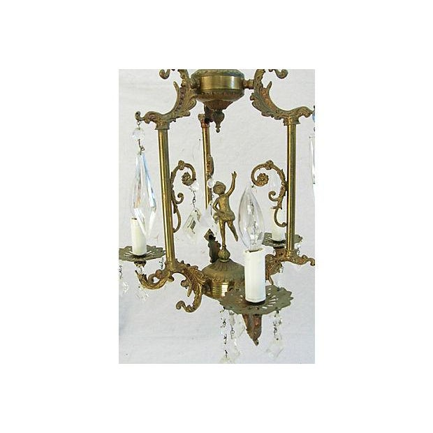 1950s Crystal 3 Arm Chandelier - Image 6 of 8