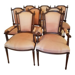 Antique Walnut Dining Chairs - Set of 8