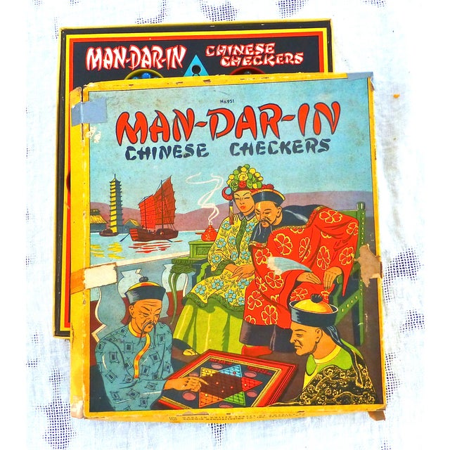 Vintage Man-Da-Rin Chinese Checkers Game, Complete - Image 6 of 7