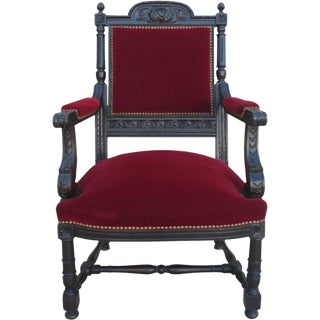French Antique Carved Armchair