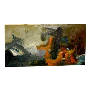 Oil on Canvas Abstract Painting Unsigned