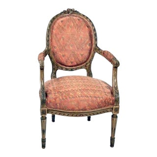 French Louis XVI-Style Fauteiul Chair
