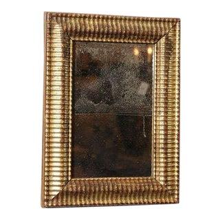 Lobed Giltwood Mirror with Original Mercury Glass