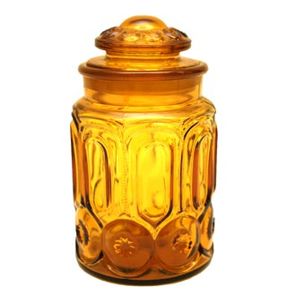 Mid-Century Amber Glass Apothecary Jar