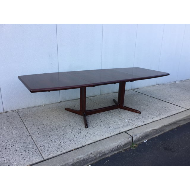Massive Danish Rosewood Dining Table by Skovby - Image 4 of 11
