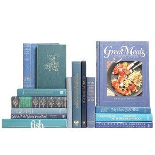 Blue Vintage Cookbooks - Set of 15
