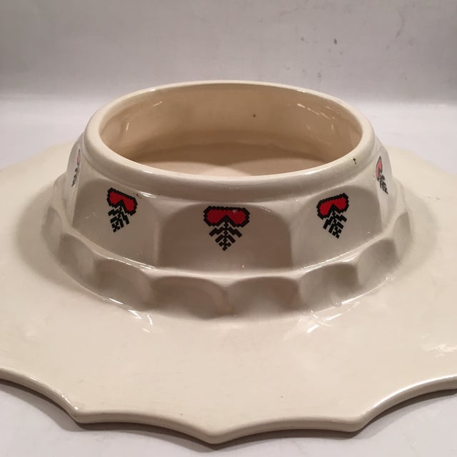 Retro Christmas Ceramic Cake or Cookie Stand - Image 6 of 8