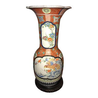 19th Century Signed Monumental Imari Vase