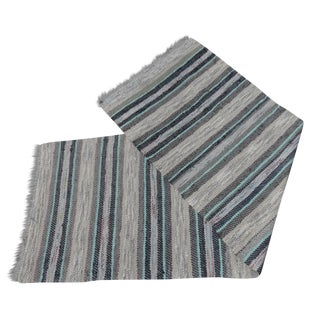 Swedish Hand Woven Rag Rug - 2′5″ × 7′5″