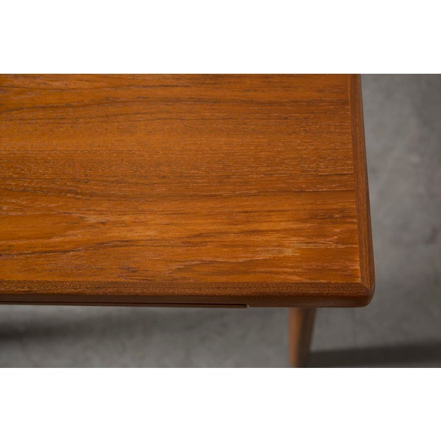 Mid-Century Carved Teak Dining Table - Image 9 of 9