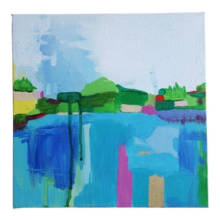 """Unframed Levy's """"Landscape"""" Painting"""