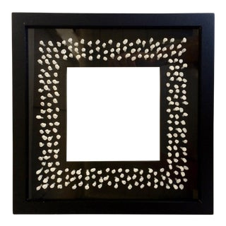 Black Photo Frame With White Knotted Paper Interior