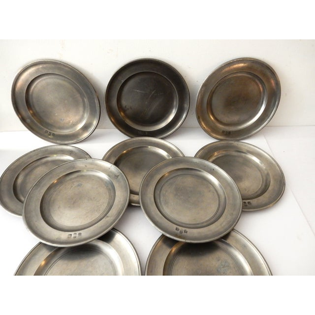 Traditional Pewter Sous Plats - Set of 10 - Image 8 of 9