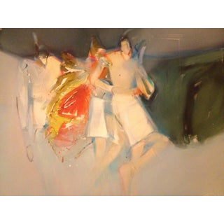 "Jean Richardson Abstract ""Spring Ponies"" Painting"