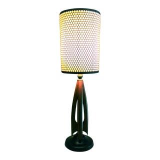 Mid-Century Modern Atomic Danish Wood Mini Lamp