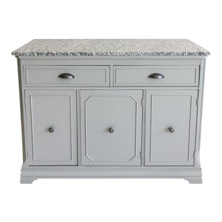 Grey Painted Server with Granite Top