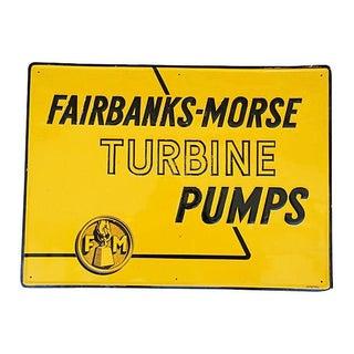 Vintage Embossed Fairbanks-Morse Pump Sign