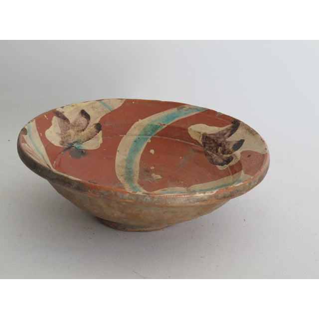 Terracotta Bowl with Flower Motif - Image 4 of 9