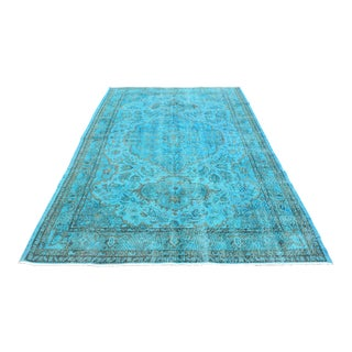 Vintage Turkish Muted Oriental Area Rug - 6′7″ × 9′8″