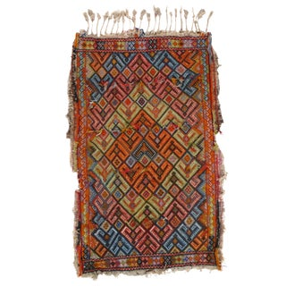 Pasargad N Y Antique Turkish Sumak Lamb's Wool Rug - 2' X 3'