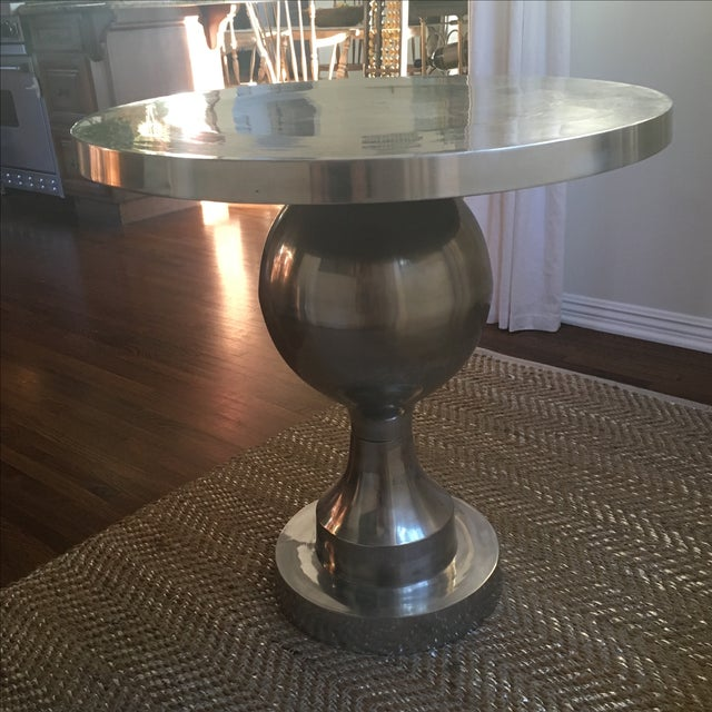 Vintage Silver Tulip Table - Image 4 of 6