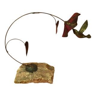 Hummingbird & Flower Sculpture