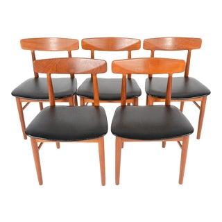 Danish Dyrlund Teak Dining Chairs - Set of 5