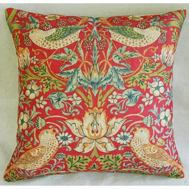 Custom Meadowlarks Linen Feather/Down Pillow - Image 3 of 5