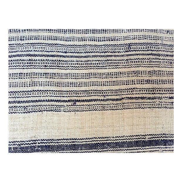 Homespun Striped Linen Fabric - 10.5 Yards - Image 4 of 4