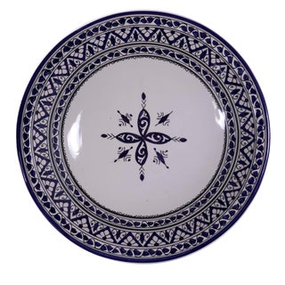 Berber Blue & White Serving Platter