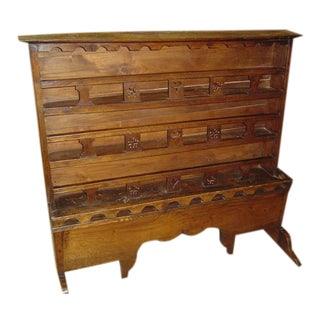 Antique Oak Buffet Shelf from France