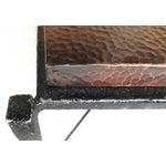 Image of Forged Steel & Hammered Copper Coffee Table