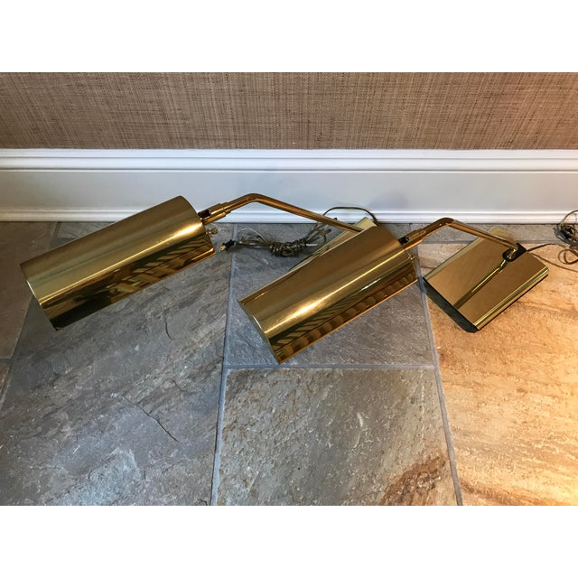 Image of Koch & Lowy Brass Articulating Desk Lamps - A Pair