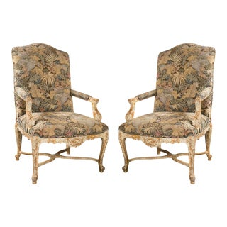 French Louis XV Style Armchairs by Jansen - A Pair