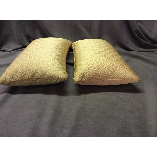 Custom Made Gold Pillows - Pair - Image 6 of 6