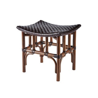 Selamat Designs Cinnamon Leather Woven Stool