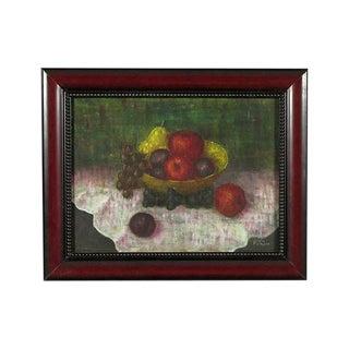 Bowl of Fruit Still Life Oil Painting