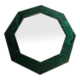 Faux Malachite Octagonal Mirror