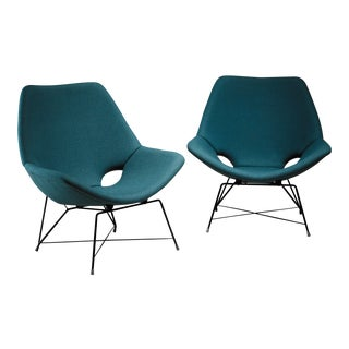 Pair of Lounge Chairs by Augusto Bozzi for Saporiti, Italy, 1960s