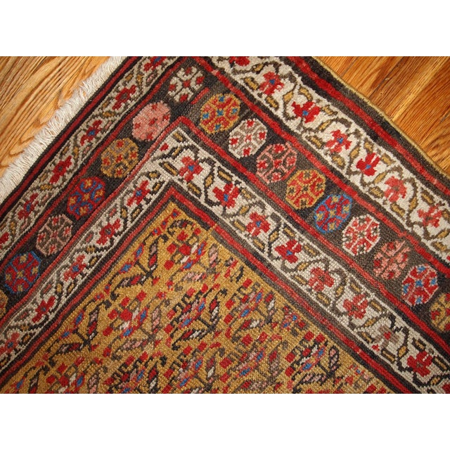 1880s Hand Made Antique Persian Kurdish Rug - 4′1″ × 7′8″ - Image 3 of 6